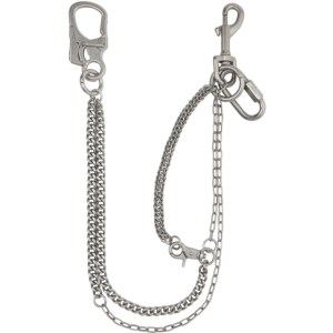 C2H4 Silver Multi Chain Keychain