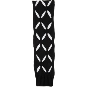 Stefan Cooke SSENSE Exclusive Black Wool Slashed Scarf