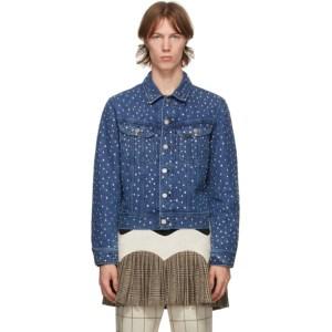 Stefan Cooke Blue Lee Edition Denim Studded Jacket