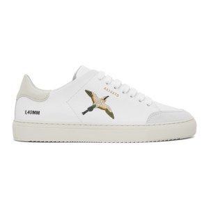 Axel Arigato SSENSE Exclusive White and Pink Birds Clean 90 Sneakers