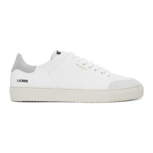 Axel Arigato White and Grey Clean 90 Sneakers