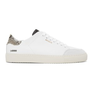 Axel Arigato White and Beige Snake Triple Clean 90 Sneakers