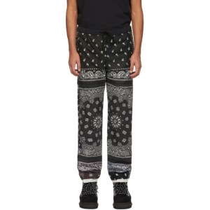 Children of the Discordance Black and Brown Patchwork Bandana Pants