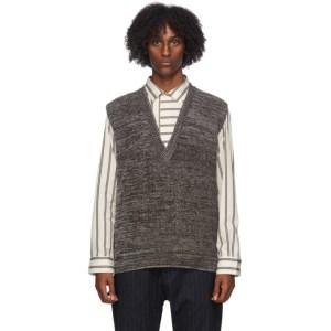 Barena Brown Virgin Wool Turlon Vest