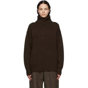 Extreme Cashmere Brown Cashmere Oversize Xtra Turtleneck