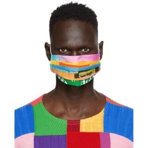 AGR SSENSE Exclusive Multicolor Patchwork Face Mask