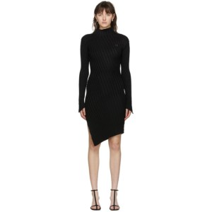 Coperni Black Viscose Mix Motion Dress