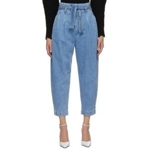 Wandering Blue High-Waist Cropped Jeans