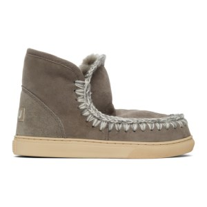 Mou Grey Sneaker Boots