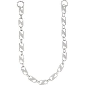 We11done Silver Logo Keychain