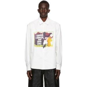 We11done White Print Shirt