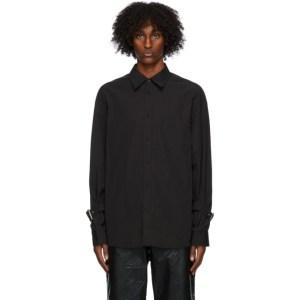 We11done Black Poplin Buckle Shirt