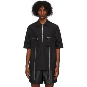 We11done Black Zip Pocket Short Sleeve Shirt