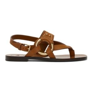 Chloe Brown Demi Flat Sandals