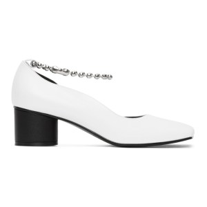 Flat Apartment White Streamlined Squared Toe Pumps