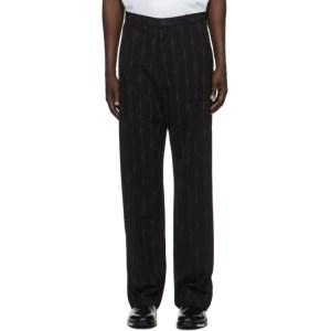 Balenciaga Black Signature Stripe Fluid Tailored Pants