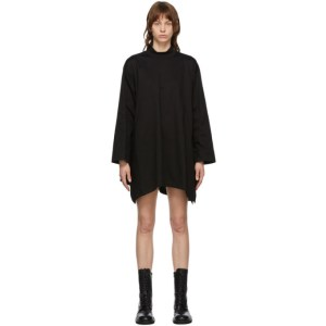 Juun.J Black Curve Hem Turtleneck Dress
