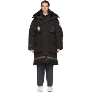 Juun.J Black Canada Goose Edition Down Snow Mantra Parka