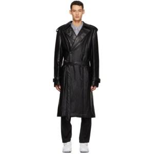 Juun.J Black Faux-Leather Jacket