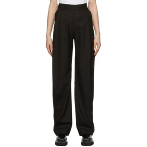 Eftychia Brown Herringbone Grampa Trousers