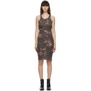 Helenamanzano SSENSE Exclusive Grey and Pink Twist Dress
