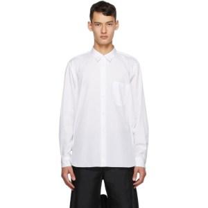 Comme des Garcons Homme Plus White Cotton Broadcloth Shirt