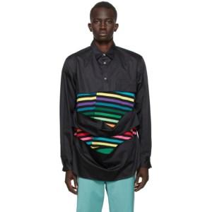 Comme des Garcons Homme Plus Black Cotton Broad Shirt