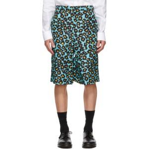 Comme des Garcons Homme Plus Blue Animal Shorts
