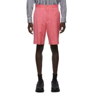 Comme des Garcons Homme Plus Pink Wool Gabardine Shorts