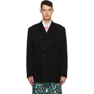 Comme des Garcons Homme Plus Black Wool Doeskin Blazer
