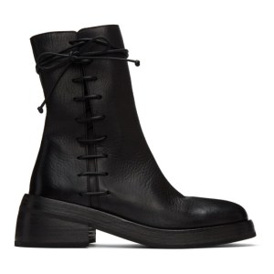 Marsell Black Fondello Side Lace Ankle Boots