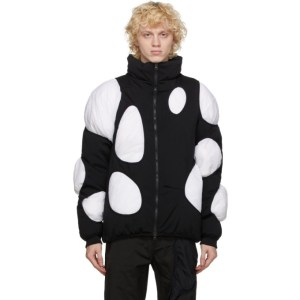 Post Archive Faction PAF Black and White Down 3.1 Left Jacket