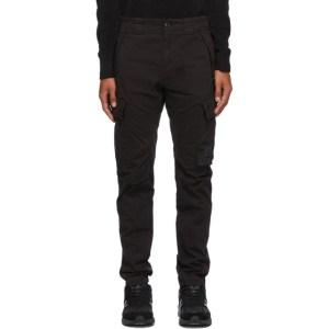 C.P. Company Black Sateen Cargo Pants