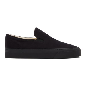 The Row Black Marie H Slip-On Sneakers