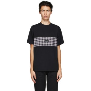 Rassvet Black Check Panel T-Shirt