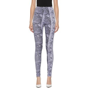 Maisie Wilen Purple Abstract Body Shop Leggings