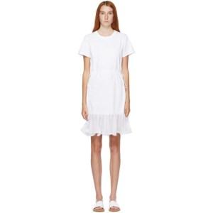 See by Chloe White Waist Tie T-Shirt Dress