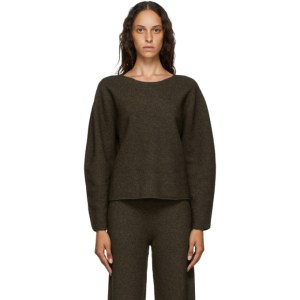 Arch The Brown Cashmere and Wool Crewneck