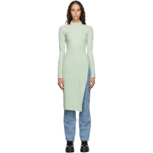 Andersson Bell SSENSE Exclusive Green Asymmetric Daisy Turtleneck