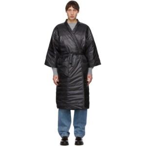 Tanaka Black Down Kimono Coat