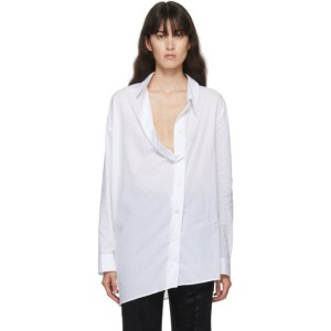 Ann Demeulemeester SSENSE Exclusive White Oversized Belted Shirt