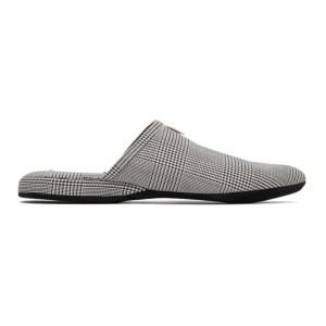 Thom Browne Black and White 4-Bar Engineered Slippers