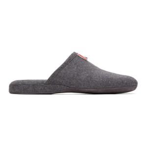 Thom Browne Grey Flannel 4-Bar Engineered Slippers