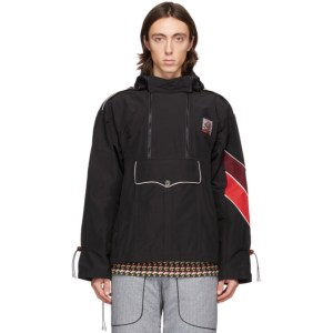 Boramy Viguier Black Windbreaker Jacket