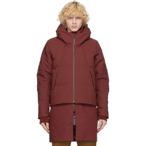 Descente Allterrain Red Down 2-In-1 Mizusawa Stratum Jacket