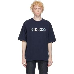 Kenzo Navy Skate Logo T-Shirt