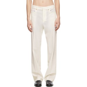 Ludovic de Saint Sernin Off-White Wool Go To Trousers