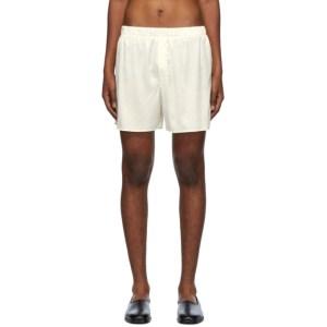 Ludovic de Saint Sernin Off-White Silk Boxer Shorts