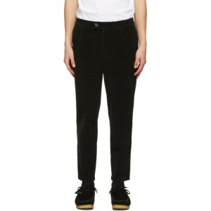 Barbour Black Corduroy Jumbo Cord Trousers