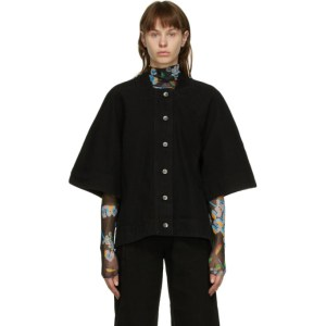Henrik Vibskov Black Denim Sponge Jacket